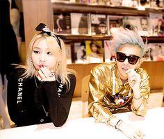 2NE1 CL and BIGBANG G-Dragon. flawless skydragon is flawless