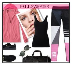 """power of pink"" by kleinwillwin ❤ liked on Polyvore featuring Under Armour, L.L.Bean, GINTA, Theory, Puma, adidas and Ray-Ban"