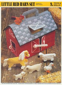 Plastic Canvas Pattern Little Red Barn Toys by prettypelican