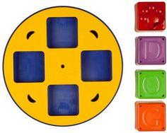 Kyjen Doggy Blocks Spinner Puzzle Dog Toy