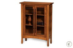 Solid wood construction means our Shoal Creek Glass Cabinet will be a beautiful addition to your dining room, kitchen, or office for generations.