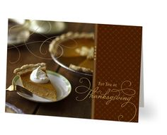 What's sweeter than a slice of pumpkin pie? Expressing a sincere thank you.