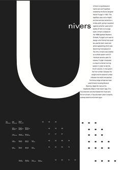 Typography poster for uni - Univers , Adam Frutiger