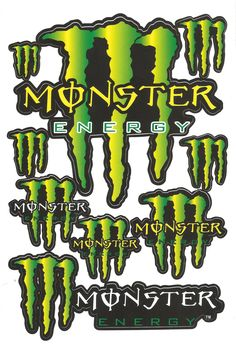 Monster energy classic stickers