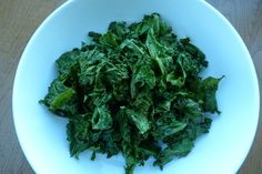 Fool-Proof Kale Chips — All you need is kale, olive oil, and sea salt! #healthy #superfood