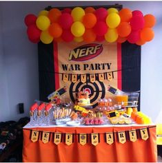 Nerf Cake Table