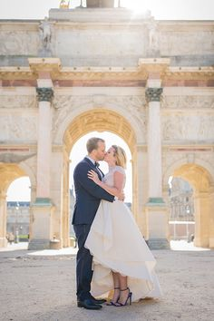 Intimate + Romantic Paris Wedding | Beautiful backdrops can be found all over Paris!