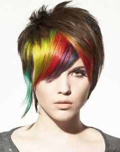 Bird Bird, The Bird is the word.  Oh my....  LOVE LOVE LOVE this cut.  And the colors, but maybe change them up a bit - keep my natural color as the main color, and then pick a few colors that would mesh beautifully...  Hmmmm...