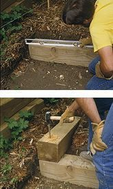 directions for retaining wall