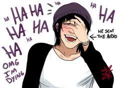 Mandándole gmidos a Armin xd