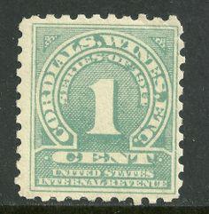 US Revenue stamps scott # RE18 MNH