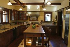 modern conveniences with the original Craftsman character of the house.