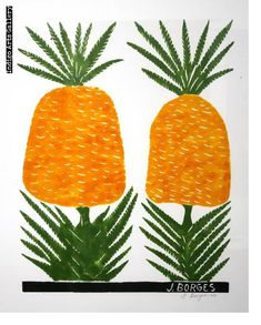 José Francisco Borges (Brazil), Woodcut print (color) on paper x 13 image on x sheet), From a private collection. 4 Images, Artist At Work, Folk Art, Graphic Art, Pineapple, Paper, Frame, Outdoor Decor, Prints