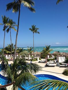 The view from our Ocean Front Suite at the Majestic Elegance Resort in Punta Cana.  2011 Vacation