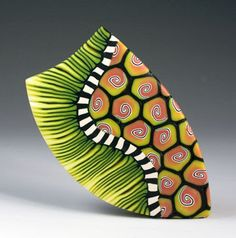 Polymer Clay Brooch New England artist Melanie West.   More cool designs can be found at this link