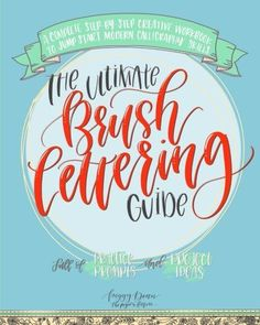 The Ultimate Brush Lettering Guide: A Complete Step-by-Step Creative Workbook to Jump Start Modern Calligraphy Skills (English Edition) von [Dean, Peggy] Lettering Tutorial, Lettering Guide, Brush Lettering, Lettering Ideas, Botanical Line Drawing, Thing 1, Real Techniques, Painting Techniques, Brush Pen