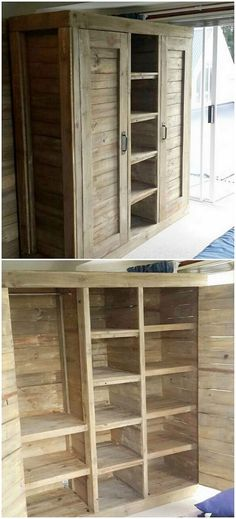 Adding the suitable creation of the wood pallet in your house do stand out to be one of the finest options. This image will make you show out with yet another one of the unique and different ideas of the wardrobe piece work as in terms of using the shipping pallets. This creation is basically designed in the shape of the shelving portions.