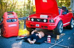 Www.facebook.com/dramaticxposures Baby fixes mustang photo shoot!
