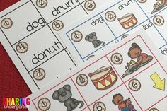 Three sets of Write the Room Activity Cards