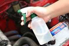 """How to Remove Odors from Your Car: 11 Steps - wikiHow. apparently, my car smells """"tangy,"""" i need this Car Smell, Car Freshener, Cleaning Hacks, Cleaning Products, Home Remedies, Drink Bottles, Water Bottle, Household Tips, Sassy"""