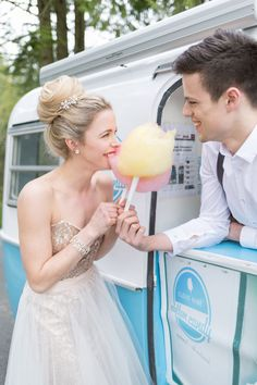 Many major cities have vendors that specialize in retro sweets like cotton candy. Rent their services for your big day and have them hand out cones of cotton candy to your guests at the reception.