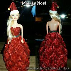 Mamãe noel em Eva, boneca decorativa #Mamãenoel #ArtesantoemEva #Presentenatalino @artesedecoracoes_emeva