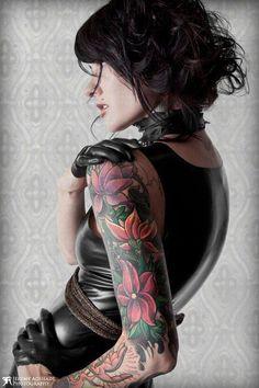 arm tattoos, sleeve tattoos, tattoo patterns, flower tattoos, tattoo sleeves, awesom tattoo, flowers, tattoo photography, tattoo ink