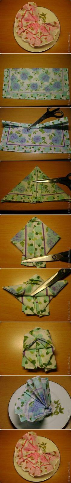 diy, butterfly, napkin, fold