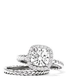 David Yurman Capri Engagement Ring. perfection.