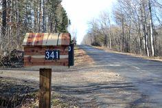 My rough cut cedar mailbox