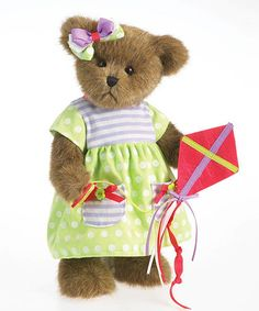 Another great find on #zulily! Spring Plush Bear #zulilyfinds