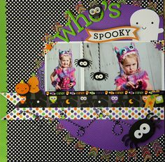 Ghouls & Goodies: Who's Spooky Layout by Jodi Wilton