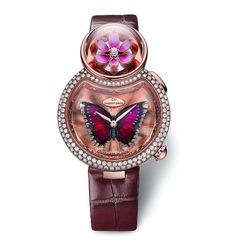 See the Jaquet Droz Lady 8 Flower watch - Movement : Self-winding mechanical - Case : Red gold Unusual Watches, Amazing Watches, Beautiful Watches, Cool Watches, Dream Watches, Modern Watches, Stylish Watches, Vintage Watches, Patek Philippe