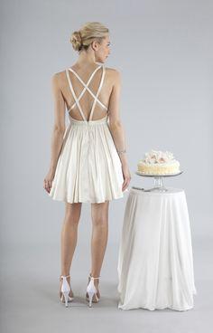 cris cross back dress nicolemiller