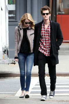 Street Style // Emma Stone & Andrew Garfield