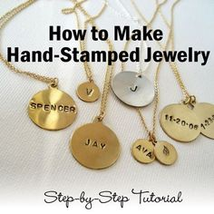 How to make hand-stamped jewelry... jewelry making tools, jewelry hand tools, jewelers supplies jewelry