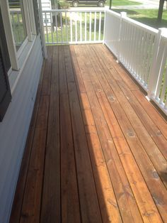 Completed deck restoration by: J&H Painting of the Quad Cities.