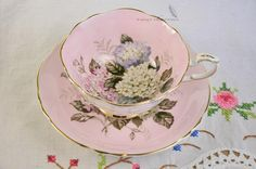 RESERVED Pink Paragon cup and saucer