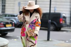 70 Amazing London Street-Style Snaps #refinery29  http://www.refinery29.com/london-fashion-week-street-style#slide52  We were so distracted by the statement coat, we almost missed the Olympia Le-Tan clutch.
