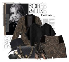 """Soirée de Luxe with bebe Holiday: Contest Entry"" by bellerodrigues ❤ liked on Polyvore featuring Bebe, Topshop, Étoile Isabel Marant, Chanel and Victoria Beckham"
