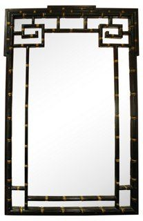 Vintage Chinoiserie Faux-Bamboo Mirror