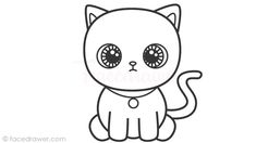 how to draw cat for kids! learn how to draw cute cat step - Cartoon Drawing Tutorial, Cartoon Girl Drawing, Cat Drawing, Kitten Cartoon, Cute Cartoon, Easy Art For Kids, Kids Fun, Cute Cat Illustration, Cat Steps