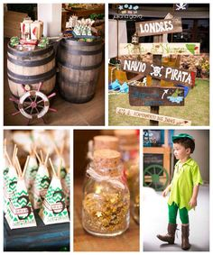 Perfect for party planning! Via Kara's Party Ideas Pirate Birthday, 3rd Birthday Parties, Pirate Party, Boy Birthday, Birthday Ideas, Fête Peter Pan, Peter Pan Party, Peter Pan And Tinkerbell, Peter Pan Disney