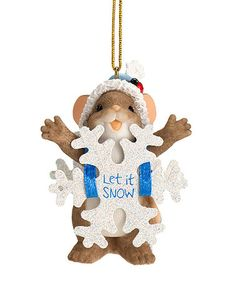 Look what I found on #zulily! Mouse Snowflake Ornament #zulilyfinds