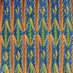 Koptský vzor - prstina s oplétáním v částečně dvojité osnově