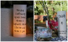 Wedding Signs  Luminaries  Quotes  Unique by thepaperynook on Etsy, $30.00