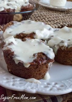 Grain Free Cinnamon Roll Muffins made #sugarfree and #lowcarb!!