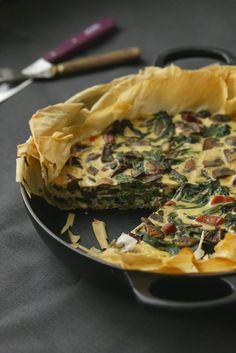 One pan tart , quiche pâte filo aux légumes réalisée dans une seule poêle   Ondinecheznanou.blogspot.com