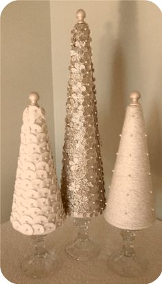 beautiful white & silver trees