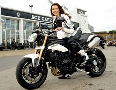 The lovely Suzy Perry on the lovely Speed Triple! - repined by http://www.motorcyclehouse.com/ #MotorcycleHouse